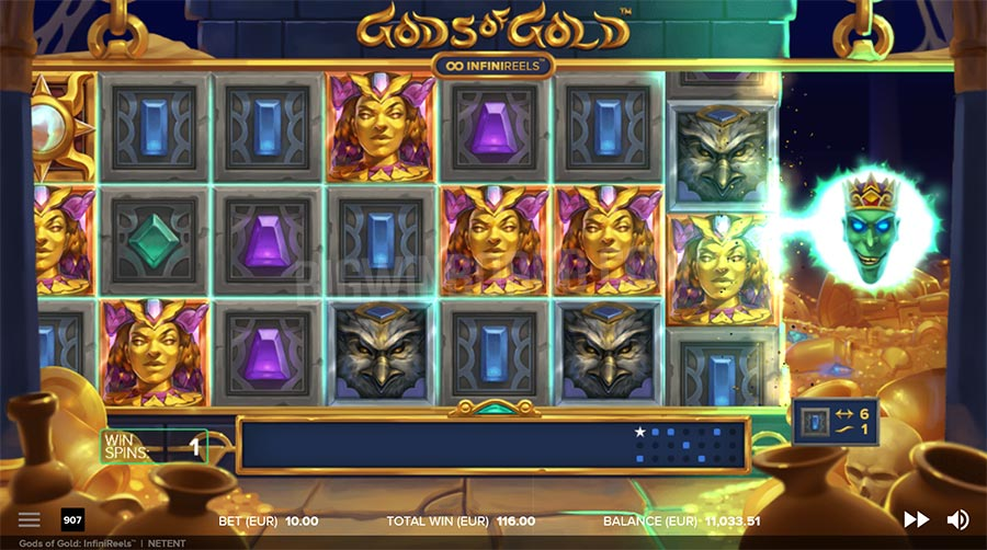 NETENT'S GODS OF GOLD INFINIREELS SLOT