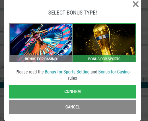 Kabaddi Betting Bonus Type