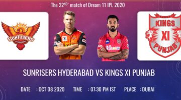 IPL 2020, Match 22 : SRH Vs. KXIP Preview; Playing XI's and Prediction